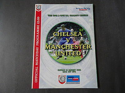 2000 FA Charity Shield Programme - Chelsea v Man United - 13th August 2000