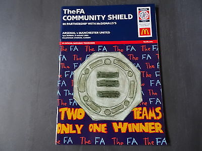2004 FA Charity Shield Programme - Arsenal v Man United - 8th August 2004