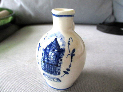 Vintage Bols Mini DECANTER-BOTTLE-JUG MADE-IN-HOLLAND Delft 1575 Delftware 9cm