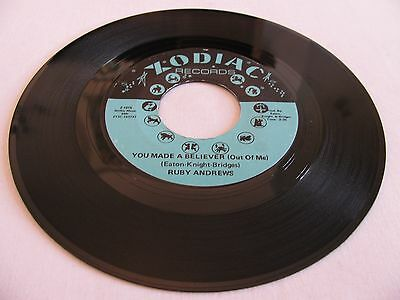 Ruby Andrews - You Made A Believer (Out Of Me) / Where Have You Gone - Zodiac