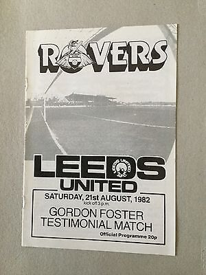 DONCASTER ROVERS v LEEDS UNITED ( Foster Testimonial ) 1982.