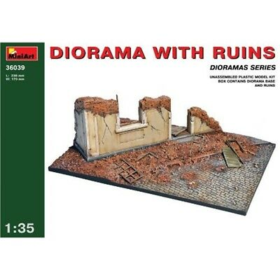 Miniart 1:35 - Diorama With Ruins - 135 Model Kit Scale Plastic