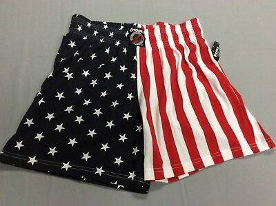 Vintage 80S Otomix Usa American Flag Shorts Weightlifting Mens Xl Deadstock New!