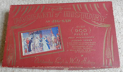 Vintage - 1950 Boxed Jigsaw -  Pageant Of History - Henry Viii And Anne Boleyn