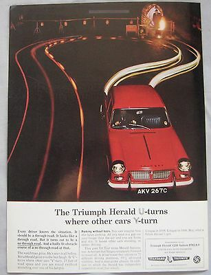 1966 Triumph Herald 1200 Original advert No.1