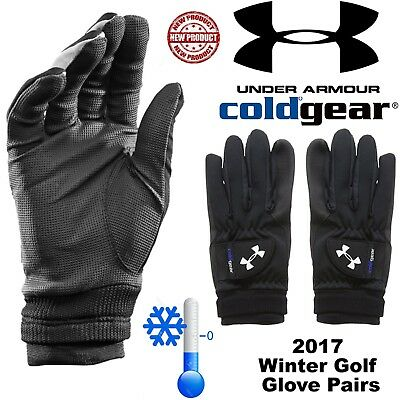 Under Armour Winter Golf Gloves Mens Winter Golf Gloves Cold Gear Thermal New