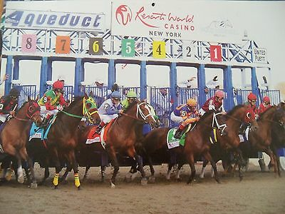 Set of 11 MINT thoroughbred horse racing calendars 2004-2014 NYRA Breeders Cup