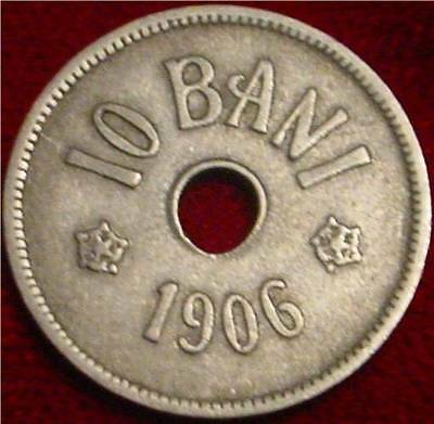 *nice Grade 1906 10 Bani Romania*** Nice Detailed Coin