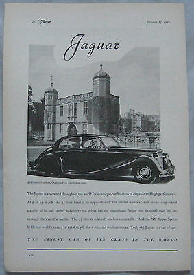1949 Jaguar Original advert No.1