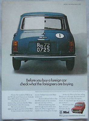 1971 Mini Original advert No.1