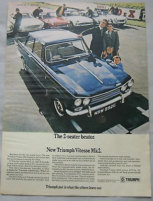 1969 Triumph Vitesse Mk2 Original advert