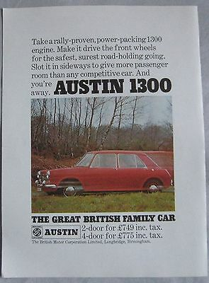 1968 Austin 1300 Original advert No.2