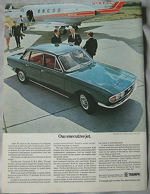 1970 Triumph 2.5 PI Mk2 Original advert