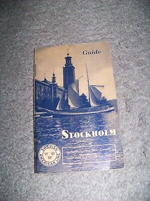1930 Stockholm Guide Swedish American Line Fold Out Map