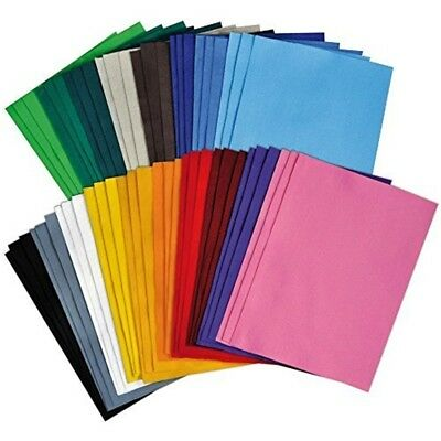 Playbox - Felt Sheets (18 Colours) - 30 x 20cm - 54 Pcs - 18 Colours Roll Pieces