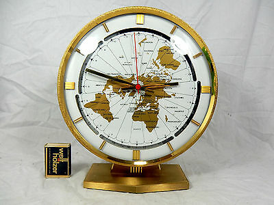 Grosse KUNDO  Weltzeituhr Tisch Uhr world timer  table clock  Elvis Graceland
