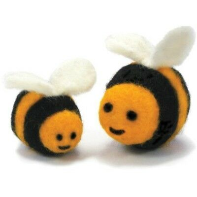 Dimensions Needle Felting - Round & Wooly: Bees - Woolly Kit D7273908 Wooly