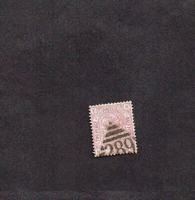 GB USED IN IRELAND.QV.2 1/2d MAUVE PLATE 5.KINGSTOWN (DUN LAOGHAIRE) 289 DIAMOND