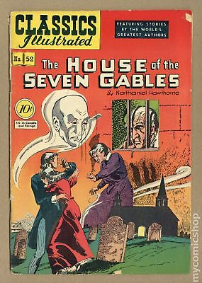 Classics Illustrated 052 The House of Seven Gables (1948) #1 VG+ 4.5