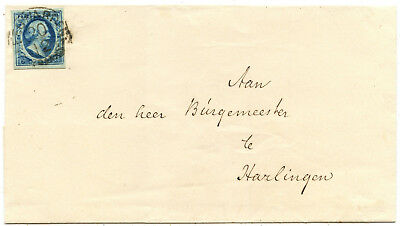 Niederlande Brief Leeuwarden Harlingen 1857