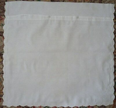 "Vintage FRENCH COTTON Square CONTINENTAL European PILLOWCASES NOS 30"" x 28"""