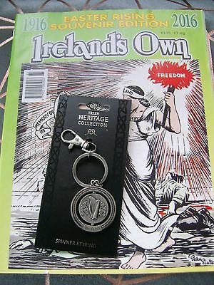 Ireland's Own Easter Rising Souvenir Edition 1916/2016 & Irish Harp Coin Keyring