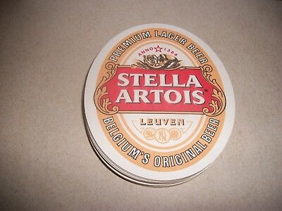 10- Brand New- Stella Artois- Beer Coasters