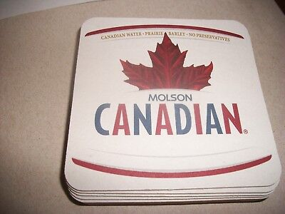 10- Brand New- Molson Canadian- Beer Coasters