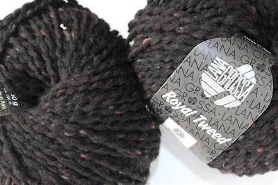 Wolle Kreativ! Lana Grossa - Royal Tweed - Fb. 20 schwarz 50 g