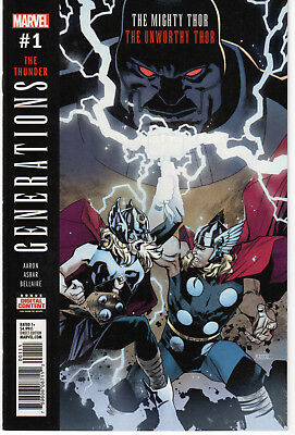 GENERATIONS: THE UNWORTHY THOR & THE MIGHTY THOR #1,  Marvel, 2017  NM  (9.4)