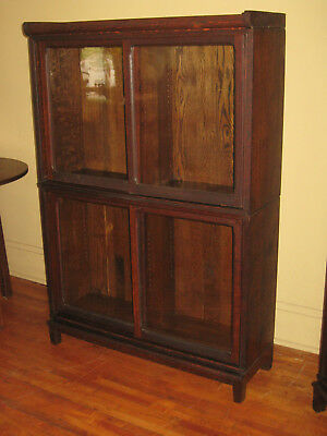 WE SHIP! Danner Quartered Mission Oak Stacking Bookcase Book Shelf Cabinet