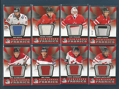 (11) 12/13 Sp Game Use Hockey Jersey-Patch-Dual-Quad Team Canada Lot
