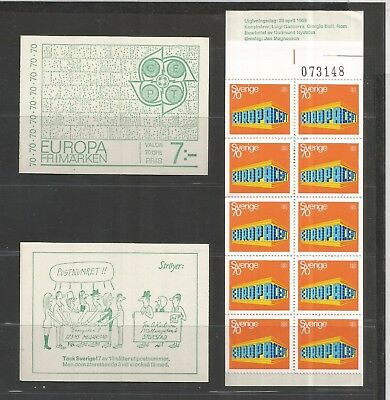 EURO 001 Europa CEPT - SWEDEN Sverige 1969 booklet 10 x 70 Ore MNH stamps