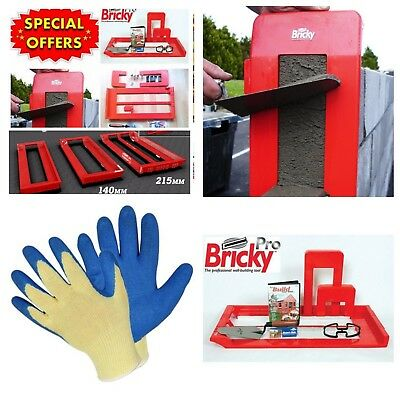 Bricky Pro Professional Wall Building Mortar Application Tool Kit + Dvd