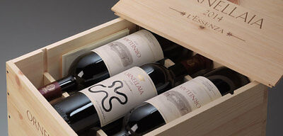 6 bottles ORNELLAIA BOLGHERI SUPERIORE DOC 2014 in wood box ( from november 2017