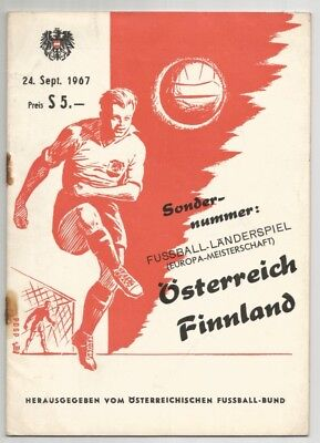 1967 Austria v Finland European Nations Cup Qualifier