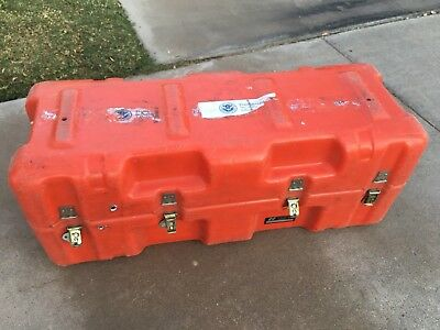 Hardigg Hard Shell Travel Shipping Case Heavy Duty Container Orange