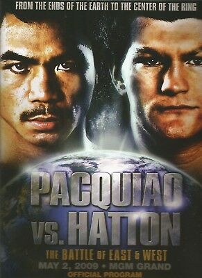 2009 MANNY PACQUIAO vs RICKY HATTON, IBO WORLD TITLE PROGRAMME