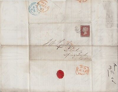 Gb Stamps 1846 Imperf Penny Red On Wrapper Spring Postal History Collection