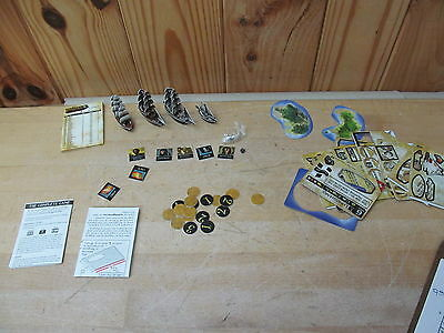 Pirates of the Spanish Main Cards – Punched – 4 ships + islands