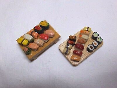 DOLLS HOUSE FOOD - 2 x SUSHI BOARDS