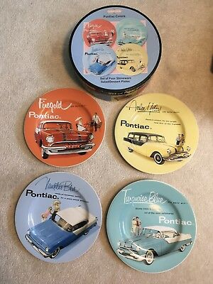 Sakura Stoneware Plates Set Pontiac Colours. Set Of 4.