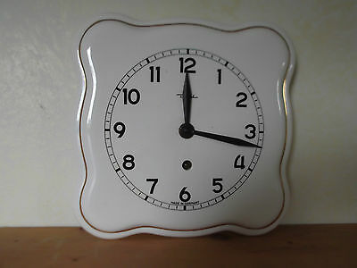 Vintage Diehl Ceramic Wall Clock with the key - Made in Germany