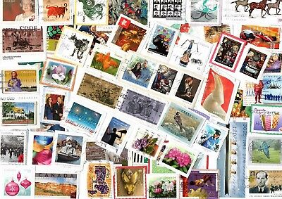 A Lovely Mix Of Mostly Recent Commemorative Stamps From Canada