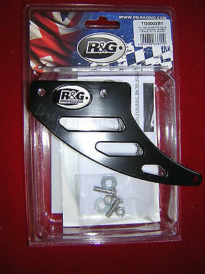 Yamaha R6 03-05 R&G Sharks Fin/Chain Toe Guard. Black New*