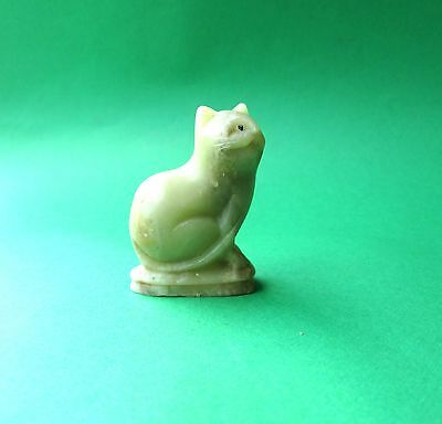 Vintage Small Light Green Cat Figurine in Excellent Condition