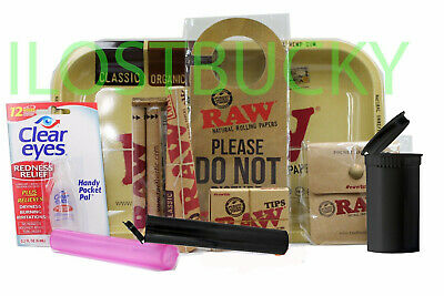 RAW 7x11 TRAY-KING SIZE SLIM ROLLING PAPERS+TIPS+ROLLING MACHINE+Tube ETC
