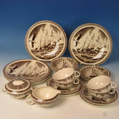 Vernon Kilns - Rockwell Kent Moby Dick - 22 Pieces - Plates/Bowls/Cups/Saucers