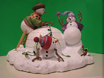 LENOX CHRISTMAS PLAYTIME SNOWMAN sculpture NEW in BOX with COA Lynn Bywaters