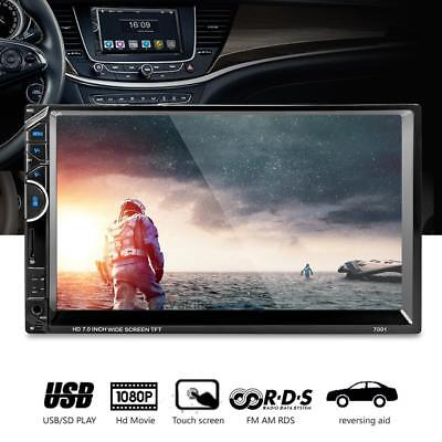 """HD 7"""" Bluetooth Hands Free Touch Screen Car MP4 MP5 Player 2 DIN Video Stereo FM"""